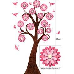 Garden Tree Wall Sticker with Matching Birds and Butterflies $63.00