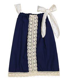 Love this Navy Pillowcase Dress - Kids & Tween on #zulily! #zulilyfinds