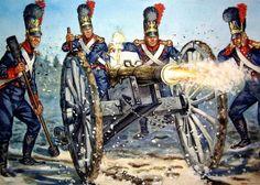 1812 Bavarian artillery - Giuseppe Rava