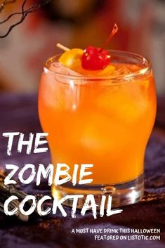 The Zombie Cocktail Halloween drink recipe. Perfect cocktail for creepy Halloween .The Zombie Cocktail Halloween drink recipe. Perfect cocktail for the creepy Halloween party for adults. Staggered alcohol cocktail, not for the faint of heart. Rum Cocktail Recipes, Alcohol Drink Recipes, Cocktail Drinks, Cocktail Movie, Cocktail Sauce, Cocktail Attire, Cocktail Shaker, Cocktail Dress Prom, Cosmo Cocktail