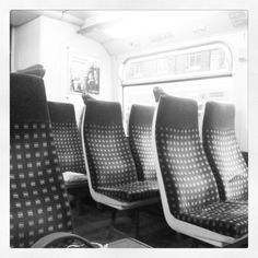 Train seats.