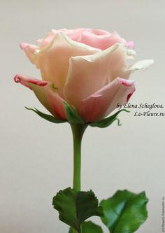 Роза (холодный Фарфор, porcelana). Автор - Елена Щеглова