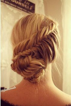 Fishtail Braid Updo - Hairstyles How To