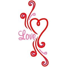 Swirl Dot Love - 3 Sizes! | Valentine's Day | Machine Embroidery Designs | SWAKembroidery.com Band to Bow