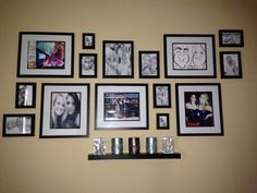Photo Frame Collage! I love it :) #picturewall #decor