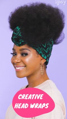 Super Ideas for nails easy videos french Hair Wrap Scarf, Hair Scarf Styles, Curly Hair Styles, Natural Hair Styles, Scarf Head Wraps, Head Scarf Tying, African Hair Wrap, African Head Wraps, Scarf Hairstyles