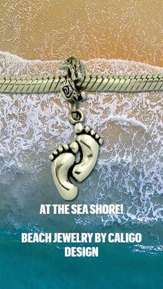 Ocean Jewelry, Nautical Jewelry, Beach Jewelry, Gold Jewelry, Pandora Style Charms, Diamond Beach, Starfish, Palm Trees, Sea Shells