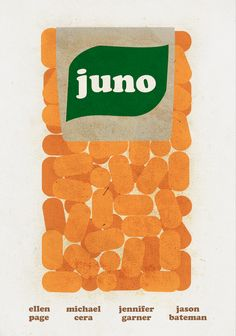 Minimalist poster designed for indie film, Juno.