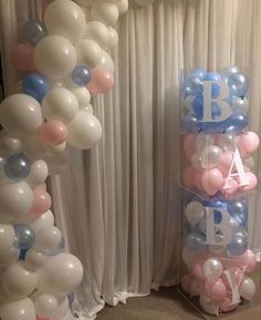 ▷ 1001 + gender reveal ideas for the most important party in your life – Baby shower Gender Reveal Balloons, Gender Reveal Party Decorations, Baby Gender Reveal Party, Gender Party, Baby Reveal Party Ideas, Cadeau Baby Shower, Idee Baby Shower, Shower Bebe, Baby Boy Shower