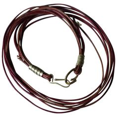 For Sale on - Leather multi-strand rope choker ending with an gold handmade toggle clasp. Can be worn with our DANCE pendants. Created for a modern living. Mens Leather Necklace, Leather Chain, Leather Jewelry, Leather Bracelets, Rope Necklace, Multi Strand Necklace, Fall Jewelry, Silver Jewelry, Mens Bracelet Fashion