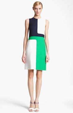 Michael Kors Colorblock Crepe Dress