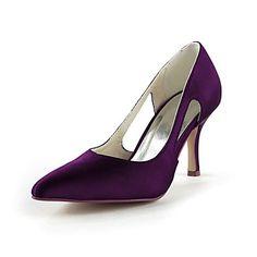 Women's Wedding Shoes Heels Heels Wedding Black/Blue/Pink/Purple/Red/Ivory/White/Silver/Gold/Champagne - USD $ 27.99
