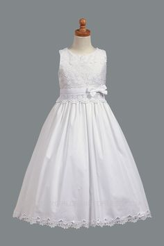 L_SP105 - First Holy Communion-Flower Girl Style SP105 - Cotton Items - Flower Girl Dress For Less