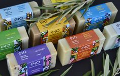 Logo & Package design for Elo Soaps main products.