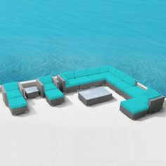 Modern Outdoor Patio Furniture Wicker Bella 15 PIECE TURQUOISE Luxxella http://www.amazon.com/dp/B00AYVIIUY/ref=cm_sw_r_pi_dp_JSpKtb1T58BPPQN7