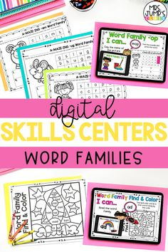 With these digital activities, students can practice the kindergarten reading skill of word families. The word family activities can be completed through Powerpoint or on Google slides, and make a great kindergarten literacy center.
