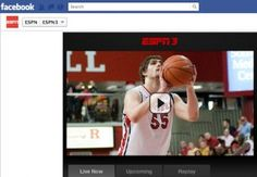 ESPN is streaming more than 200 college basketball games on Facebook over the next week. It's the first time the self-proclaimed Worldwide Leader in Sports has turned to the world's dominant social network to deliver live content.     The streams of conference tournament games -- precursors to th...