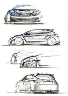 SUBARU WRX STI Image sketch