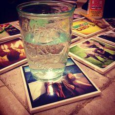 OMG I love this. DIY Instagram Coasters make great personalized gifts! #diy #crafts