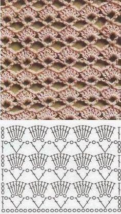 Blockieren Sie selbstgemachten Perlenschmuck und anderes Kunsthandwerk Knitting Techniques techniques used in knitting Crochet Motifs, Crochet Tunic, Crochet Diagram, Crochet Stitches Patterns, Crochet Chart, Crochet Squares, Love Crochet, Diy Crochet, Crochet Designs