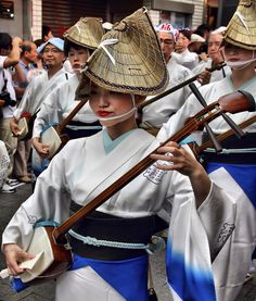 The shamisen is a three-stringed Japanese musical instrument. It can be played solo or with other shamisen, in ensembles with other Japanese instruments, with singing such as nagauta, or as an accompaniment to drama, notably kabuki and bunraku. Both men and women traditionally played the shamisen.