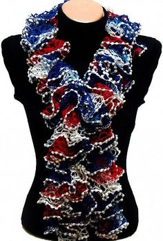 Independence Day Special Hand knitted Navy White Red by Arzus, $19.90