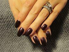 classy shellac nails - Google Search dark lava