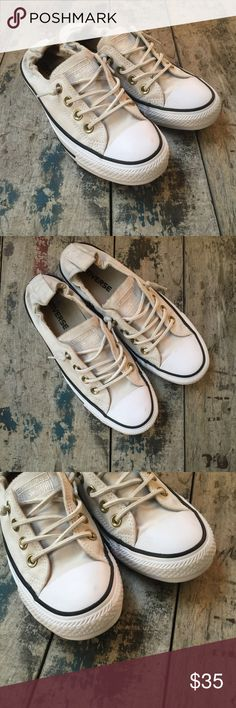 ‼️SHOP SMALL SALE‼️CONVERSE BEIGE SZ 6 Women's Lightly used excellent condition Converse Shoes Sneakers