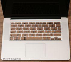 Lazerwood wooden keyboard for MacBook Pro. Looks so nice~