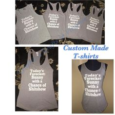 Custom Made T-shirts @cynthiascraftsinvirginia  do work base on your designs and ideas to create what you like  #custom #custommade #customtshirt #tshirt #tanks #summer #familytshirts #custommadeorder #forecasttoday  #cynthiascraftsinvirginia #amazon #etsy #facebook #sporttank #summerfashion