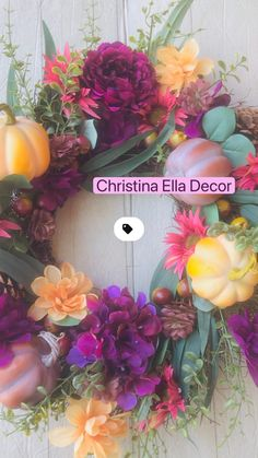 Wreaths And Garlands, Outdoor Wreaths, Fall Wreaths, Fall Table Settings, Fall Wedding Centerpieces, Fall Planters, Fall Home Decor, Fall Trends, Fall Pumpkins