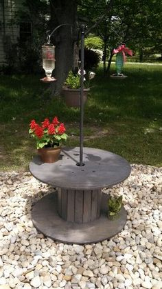 My new hummingbird garden courtesy of my wonderful husband!