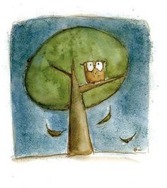 'Owl in Tree' by Irisz Agócs