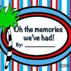 On Sale Now! Seuss themed Memory Book for Elementary grades! PDF can be printed 2 copies for page to make super cute half books. End Of School Year, Beginning Of School, Future Classroom, Classroom Themes, Memory Crafts, Hat Party, Autograph Books, Dr Suess, Middle School Science