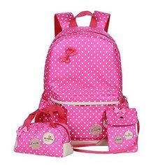 1b50ebf9f13c 3 Pcs Water Kids School Bag Backpack Colorful Water Repellent Girls Teen
