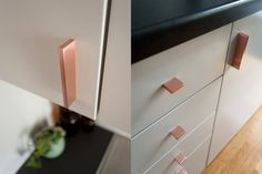 CLEAN CUT handles. Several sizes in polished- and brushed copper, chrome, polished- and brushed brass. http://bb-sweden.se/?lang=en