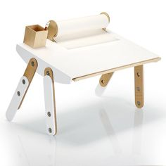 Milky Desk -This children's desk can be repositioned to form an art table.
