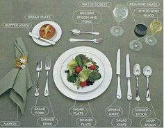 How to set a table. when you have that much company, I guess