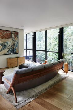 Robin Boyd's Bridge House in Melbourne renovated by Stephen Jolson | interiors architecture