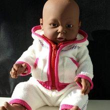"20/"" Reborn Baby Doll Lifelike Silicone Vinyl Smile Laugh Girls w// Red Dress 50cm"