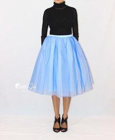 Ciara Serenity Blue Ombre Tulle Skirt - C'est Ça New York