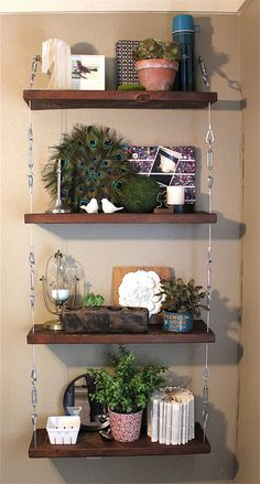 """well styled shelves. makes me realize that ryan thinks i have a lot of """"crap"""" but really, i need to buy more to fill shelves."""
