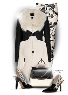 """""""Cream and Black Attack"""" by rockreborn ❤ liked on Polyvore featuring Topshop, Altuzarra, Alexander McQueen, Dolce&Gabbana, Talbots, polyvorecommunity and polyvoreeditorial"""