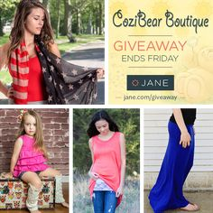 I just entered this great giveaway from Jane.com and CoziBear Boutique! #janegiveaway #giveaway