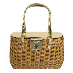 kate spade 'Tisbury' Venice Basket Handbag found on Polyvore