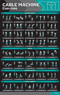 Smith Machine Workout, Cable Machine Workout, Cable Workout, Gym Workout Chart, Best Workout Plan, Gym Workout Tips, Workout Machines, Bowflex Workout, Dumbbell Workout