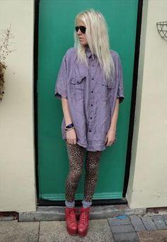 Vintage Lilac Silk Shirt