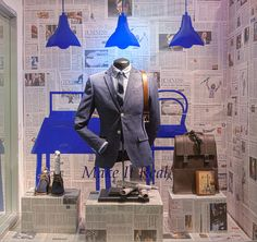 Menswear Window Displays 2015. Visual Merchandising Arts, School of Fashion at Seneca College.