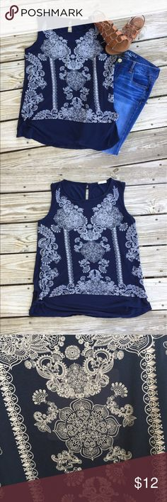 Ava James Top Navy blue Ava James top. Size medium. Has a beautiful design and very soft and comfy. Would look so cute with white shorts or jeans! Ava James Tops Blouses