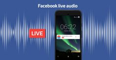 Facebook live - audio only to launch